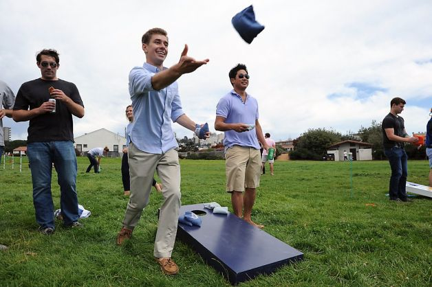 CORN-HOLE VICTORIES AND PARTYING WITH GOD